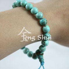 Feng Shui, Turquoise Bracelet, Mandala, Beaded Bracelets, Crystals, Stones, Jewelry, Rocks, Jewlery