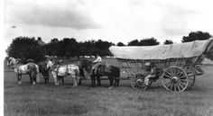 Conestoga Wagons. James Logan invented the Conestoga in 1716. The average 21-foot-long, 11-foot-high, 4-foot-wide wagon could carry two tons of cargo. Designed like boats, with ends that were higher than the middle, once the wheels were removed the heavily-caulked wagon body could be floated across Western streams.