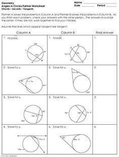 identifying missing one arc length teaching geometry pinterest math worksheets and. Black Bedroom Furniture Sets. Home Design Ideas