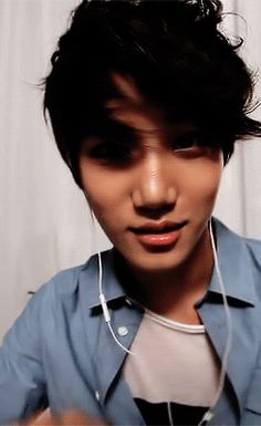 Kai - EXO can you get any more cute? maybe, but please don't. I will die