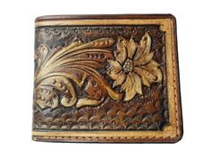Luxury Mens Wallets, Leather Men, Leather Wallet, Hand Carved, Hand Painted, Handmade Wallets, Leather Carving, Gifts For My Boyfriend, Gorgeous Men