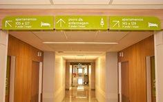 Unimed, Unimed Hospital - Rio - CBA, designing brands with heart Wayfinding Signage, Signage Design, Branding Design, Environmental Graphic Design, Environmental Graphics, Hospital Signage, Library Signage, Sign System, Visual Communication