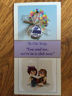 Disney Pixar UP Ellie badge first birthday favor ornament
