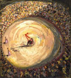 La hora de la verdad, 2009 Óleo sobre tela 200 x 180 cm. Colección privada