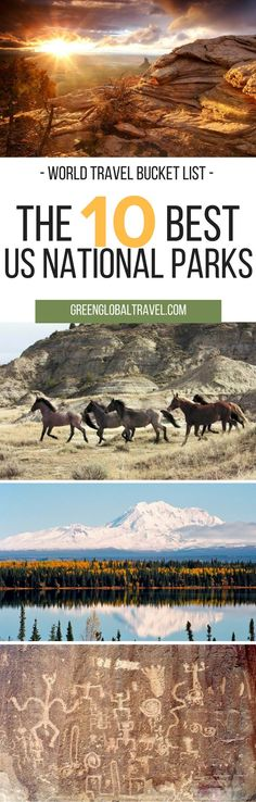 Here are our top ten US National Parks for your World Travel Bucket List. | Canyonlands National Park, Utah | Jean Lafitte National Historic Park and Preserve, Louisiana | Biscayne National Park, Florida | Buffalo National River. Arkansas |
