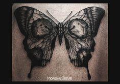 Nuovo tattoo Farfalla con teschio, presso Mocri Skin Studio. Realizzato da Morgan Steve