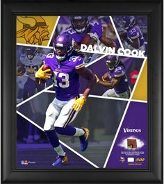 530e60c09 Dalvin Cook Minnesota Vikings Framed x Impact Player Collage with a Piece  of Game-Used Football - Limited Edition of 500