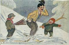 Otto Moe. Chaplin på ski. Utg Mittet Stemplet 1921