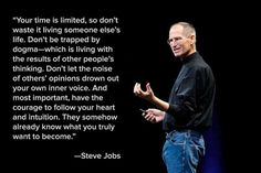 The Great Steve Jobs installing belief into creating a better brighter future.