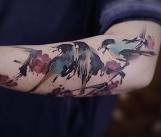 Watercolor Tattoos By Chen Jie Is The Closest Thing To Wearing A Painting
