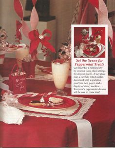 """American Girl Magazine - January 1993/February 1993 Issue - Page 34 (Part 2 of """"A Valentine Party with a Peppermint Twist"""")"""