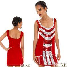 Sexy vestito corto rosso con cristalli  Taglie: s e m  https://www.lorcastyle.it