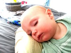 My little baby boy having a nap before his first birthday party