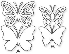 Papertrey Ink - Life is Beautiful Die Collection (set of Papertrey Ink Clear Stamps Dies Paper Ink Kits Ribbon Butterfly Stencil, Butterfly Template, Butterfly Crafts, Flower Template, Crown Template, Butterfly Mobile, Heart Template, Kirigami, Paper Butterflies