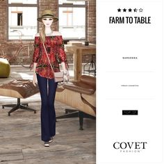 Farm to Table From Farm To Table, Paper Dolls Book, Covet Fashion, Bell Bottom Jeans, Chic, My Style, Pants, Game, Twitter