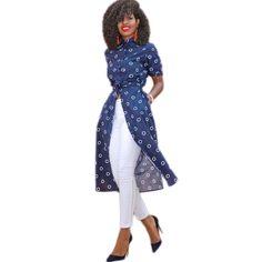 Womens Tops Fashion 2016 Long Design Shirt Women Blouses 3/4 Sleeve Loose Polka Dot Pattern Autumn Casual Lady Shirts Blusas #Blouse designs