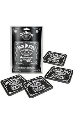 Jack Daniel's® PVC Rubber Set of 4 Coaster Set Mini Beverage Mats JD-38515 Best Price