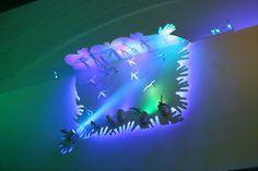 Light based art installation at Sleeperz Hotel Newcastle by artist Mick Stephenson