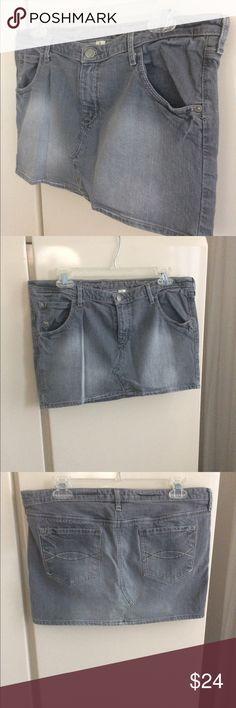 "Abercrombie denim skirt A&F denim gray skirt. Size 8.  12"" long. 17"" across   Good condition Abercrombie & Fitch Skirts Mini"