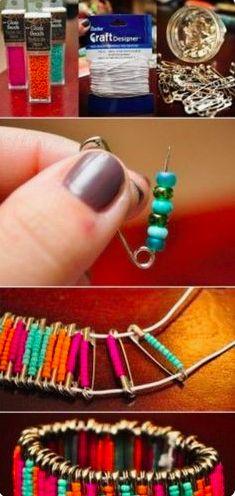 bead pin bracelet