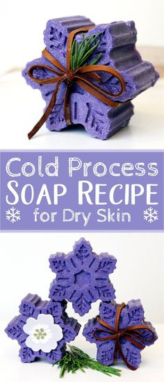 Natural soap recipe for winter skin care. This homemade cold process soap recipe is perfect for cold weather. Formulated with natural ingredients and minty essential oils, this soap recipe not only nourishes dry skin, but is also perfect for seasonal hand Homemade Soap Recipes, Homemade Skin Care, Beauty Recipe, Cold Process Soap, Soap Molds, Lye Soap, Home Made Soap, Soap Making, Dry Skin