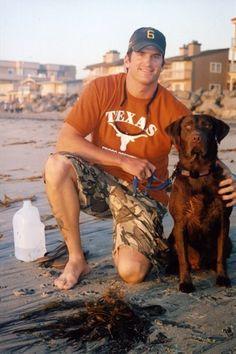 Navy Seal Jon Tumilson and his dog, Hawkeye