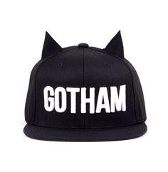 gotham horned snapback.