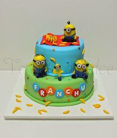 ♥TE QUIERO DULCE♥: Torta de Minions