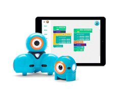 Our kids LOVE these robots! And the free Blockly app from Wonder Workshop teaches easy visual coding to kids using the robots.