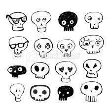 doodles skull