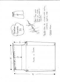Esquema de modelagem de pantalona com elástico tamanho 54