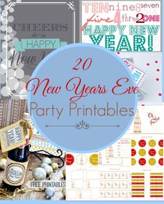 20 New Years Eve Party Printables and Champagne Recipe!  sewlicioushomedecor.com #printables