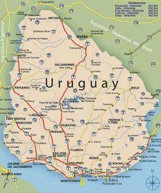 Uruguay - 19 departamentos- mas de 3 millones