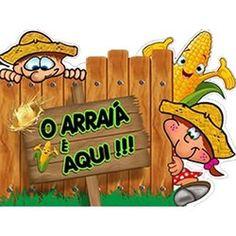 Painel Cartonado de Festa Junina - O Arraiá é Aqui!!!