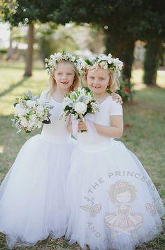 ballerina flower girl dress girls tulle by Theprincessandthebou