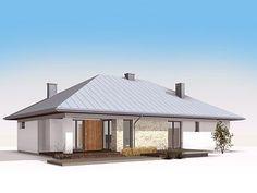 Cytrus 2 projekt domu - Jesteśmy AUTOREM - DOMY w Stylu Interior S, Gazebo, House Plans, Outdoor Structures, Design, Gable Roof, Kiosk, Pavilion