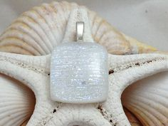 Beautiful White Shimmer Dichroic Fused by RyanstonesFusedGlass, $22.00