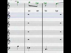 brevet från kolonien Sheet Music, Music Sheets