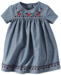 Carter's Baby Girls' Embroidered Chambray Dress - Baby Girl (0-24 months) - Kids & Baby - Macy's