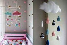 Você já pensou em fazer um quarto de bebê com tema nuvem para o seu pequeno? Essa é uma das decorações temáticas que eu considero mais fofas para as crianç