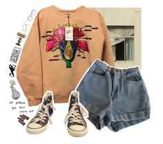 """""""the flower petals ache"""" by cloudxd-thoughts ❤ liked on Polyvore featuring Christopher Kane, Dot & Bo, American Apparel, Marni, Boutique by Jamie, Converse and Dale Tiffany"""