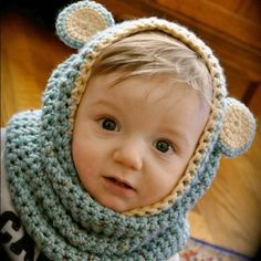 Bear Cowl - @Meg Atkinson - I want one of these!!