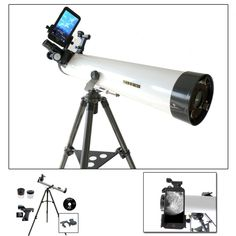 Cassini x Astronomical Reflector Telescope Kit with Smartphone Adapter Stargazing Telescope, Telescope Pictures, Astronomical Telescope, Focal Length, Shopping Hacks, Binoculars, Cool Things To Buy, Smartphone