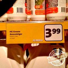 Groene anusreiniger bij Jumbo? Dat heeft aan de term 'bleekscheet' een geheel nieuwe betekenis.