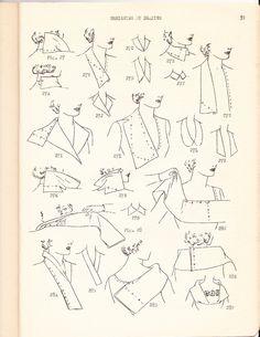 1930s Draping Book - collars