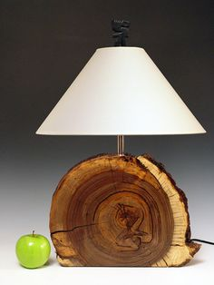Table lamp. Desk lamp. Desert Driftwood. Log slice. 176. Naturally weathered walnut. Perfectly flawed and FULL of character.