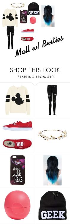 """Outfit #2"" by blueeyedbaby7 on Polyvore featuring Uniqlo, Miss Selfridge, Vans, Cult Gaia, Disney and Eos"