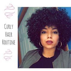 My Big Curly Hair Routine | Natural Hair