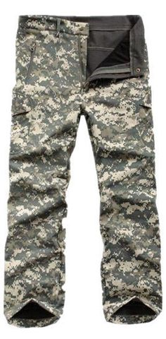 cba9cc19e Tactical / Hunting Softshell Camouflage Pants - ACU Camo