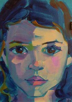 """Half Hour Portrait"" original fine art by Jessica Miller jessicamiller figurativekunst artandillustration contemporaryart paintingpeople fineartgallery loversart portraitart faceart Portrait Sketches, Portrait Art, Illustration Art, Illustrations, Abstract Faces, Painting People, Arte Pop, Jessica Miller, Face Art"